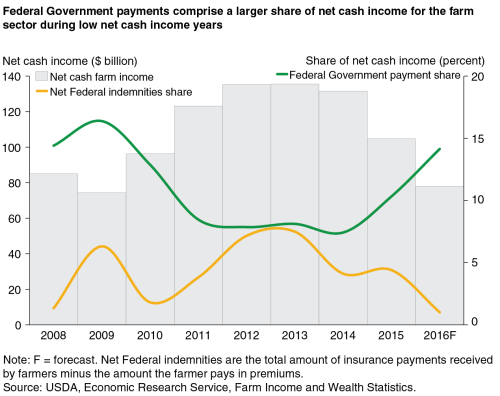 small resolution of  federal government payments comprise a larger share of net cash income for the farm sector during low net cash income years chart gallery usda economic