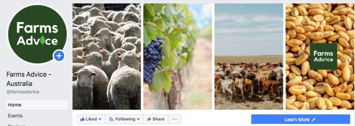 Farms Advice Facebook image sizing for your agribusiness Facebook page.