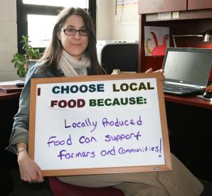 """""""Locally produced food can support farmers and communities!"""""""