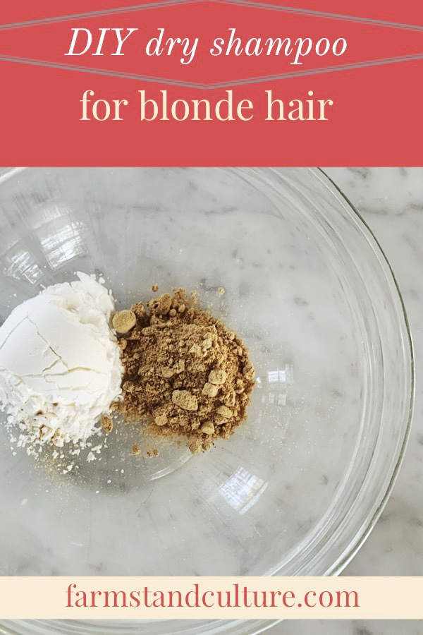 DIY dry shampoo for blonde hair