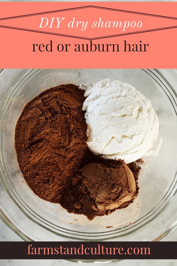 Will tomorrow be second-day hair? Try my DIY dry shampoo recipe for homemade hair care right from your kitchen. Only three simple ingredients blend right into your red or auburn hair!