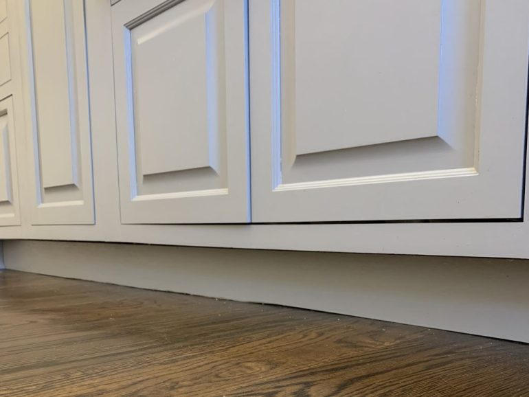 Why my farmhouse kitchen cabinets dont have toekicks.