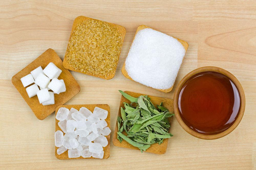Examples of some of the alternatives for refined white sugar