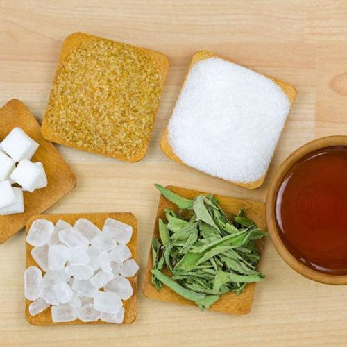 Examples of different forms of sugar