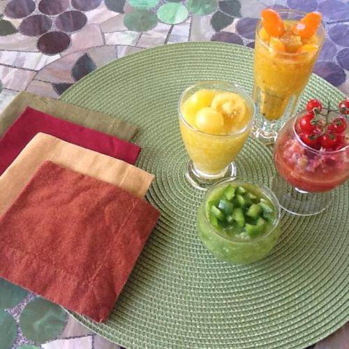 Four different Gazpachos