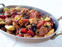 Basque Chicken and Chorizo Skillet Saute