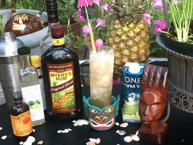 Ingredients for a retro tiki mai tai
