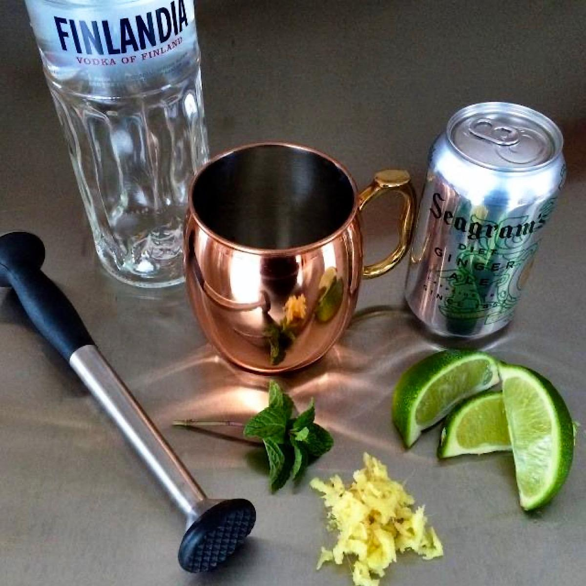 Ingredients for a Skinny Moscow Mule