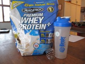 Protein powder with blender bottle