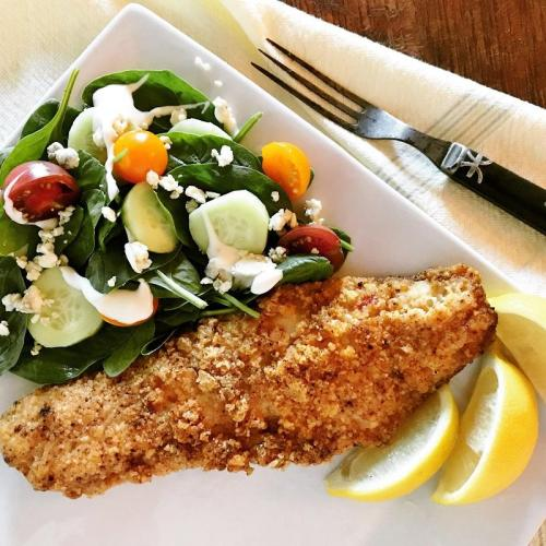 Recipe for low carb fish or Almond Crusted Cod
