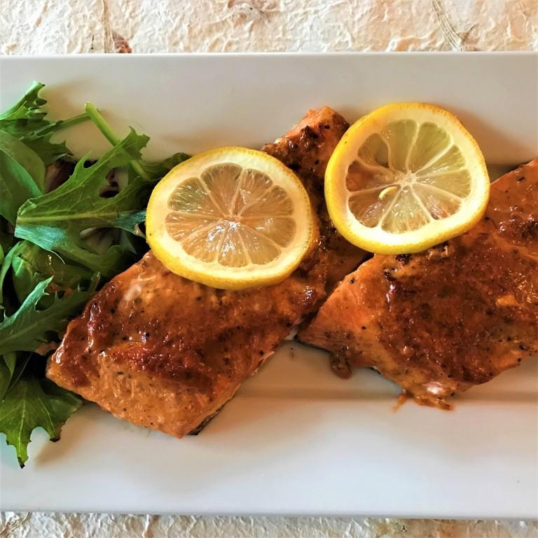 harissa glazed salmon