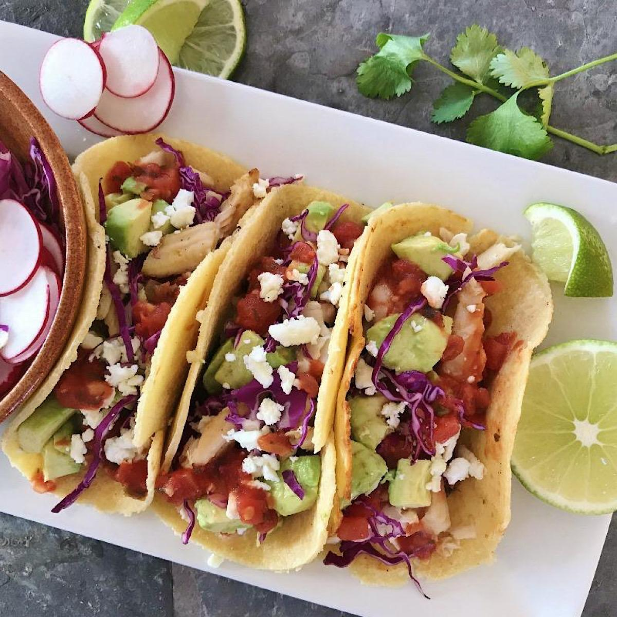 Tacos with low carb tortillas