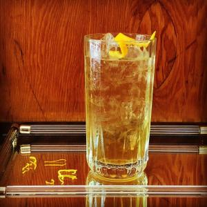 spritzer with apple shrub syrup