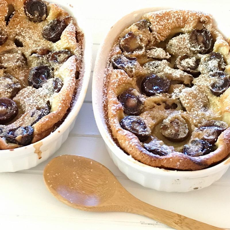low carb cherry clafoutis
