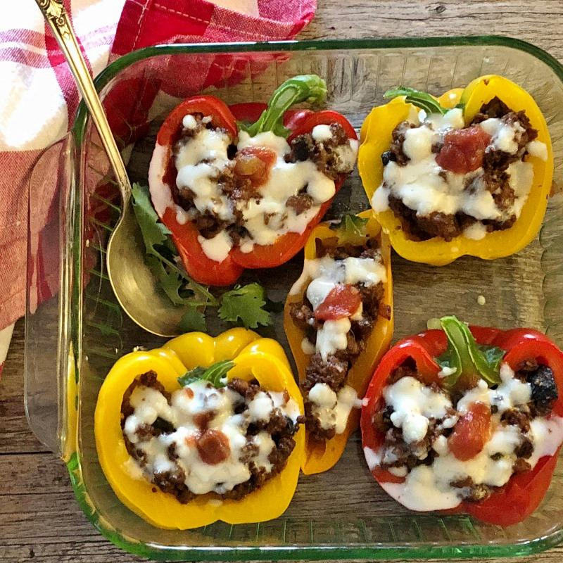 low carb or keto stuffed peppers