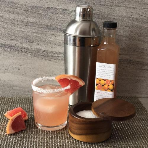 Salty Dog with Grapefruit Cardamom Syrup