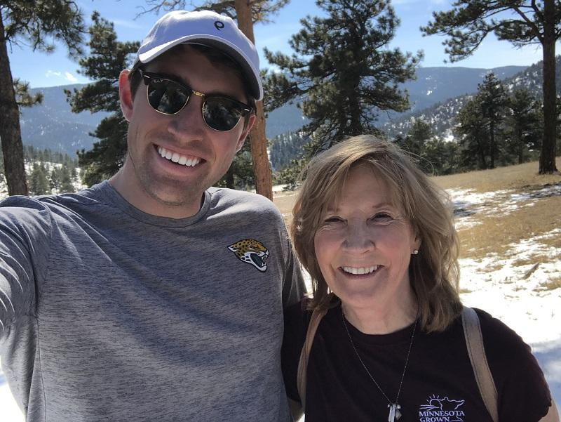 Hiking with my son in CO