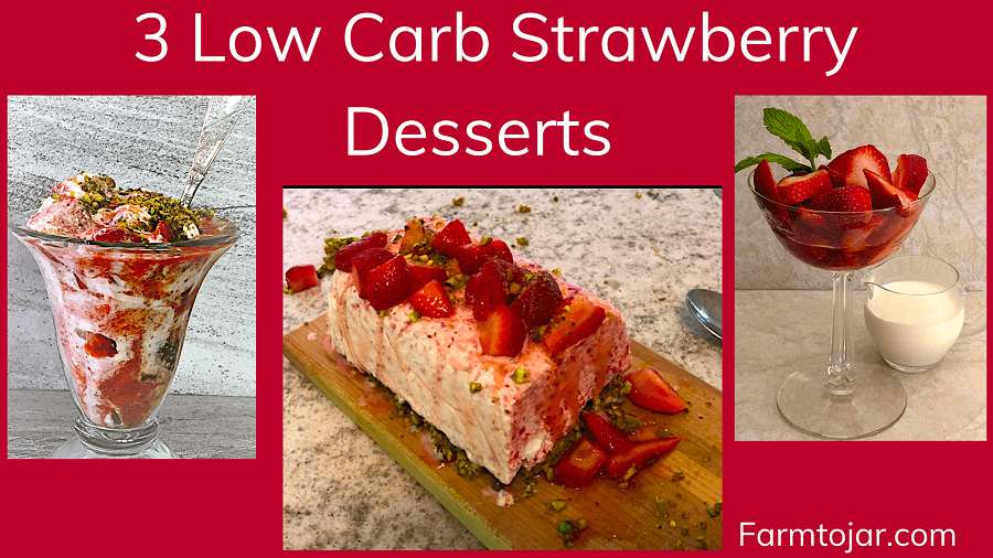 Video thumbnail showing 3 low sugar strawberry desserts