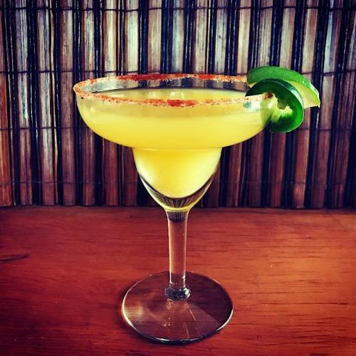 Retro tiki mai tai cocktail
