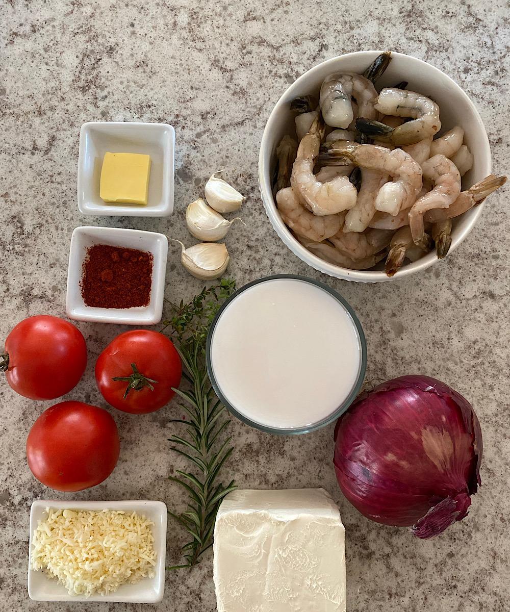 Ingredients for Camarao na Moranga