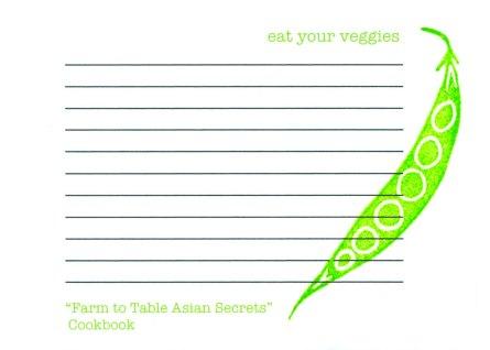 Recipe cards by Noelle of Pink Bathtub Designs