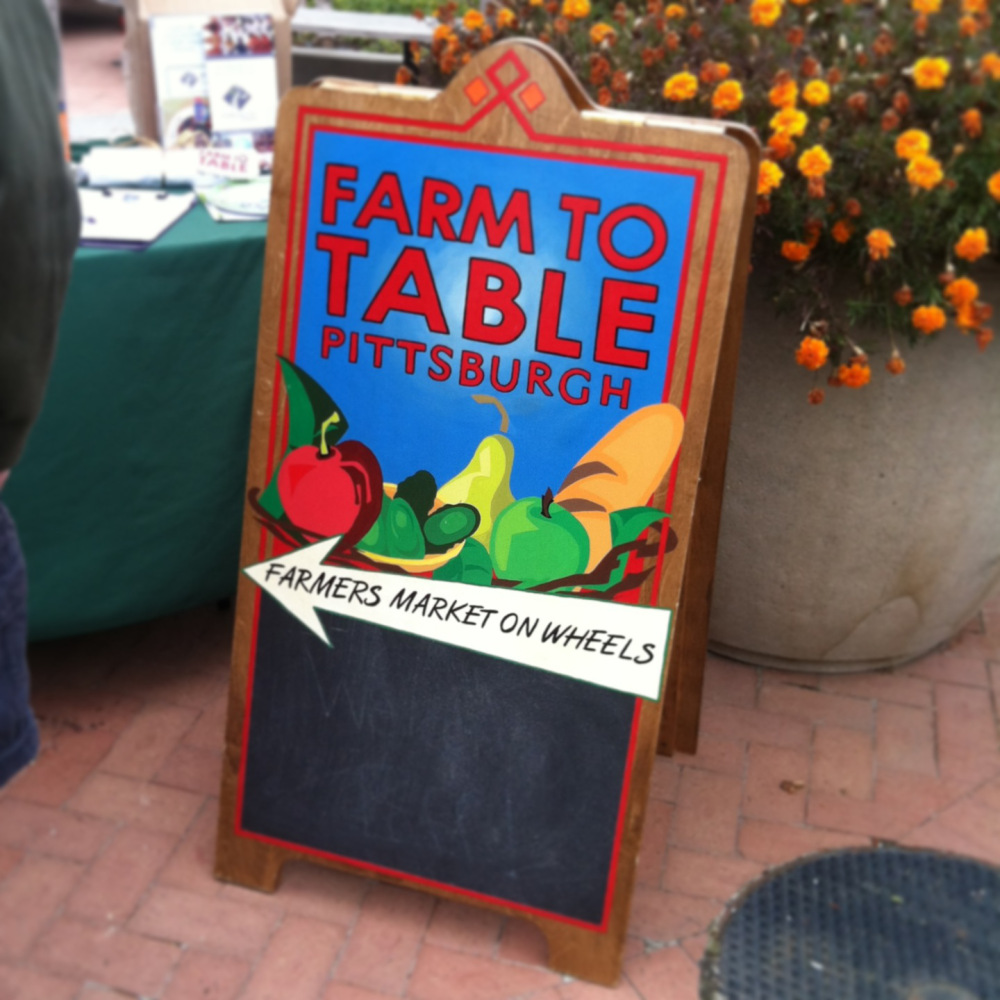 Farm to Table Pittsburgh Signage Artist