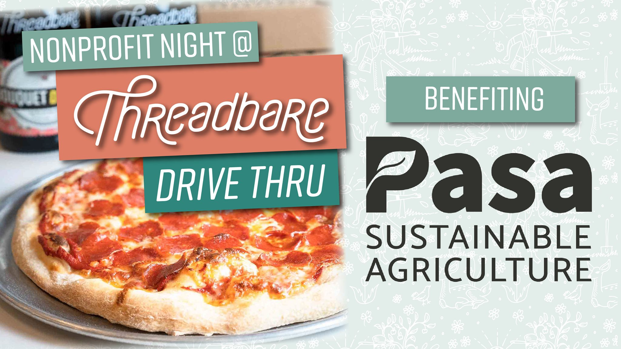 Non-profit Night at Threadbare Drive-Thru to Benefit PASA Sustainable Agriculture