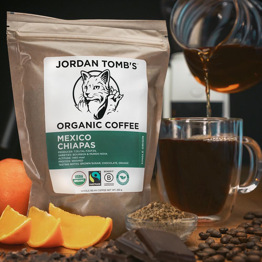 JORDAN TOMB'S Organic and Fairtrade Coffee - Mexico Chiapas