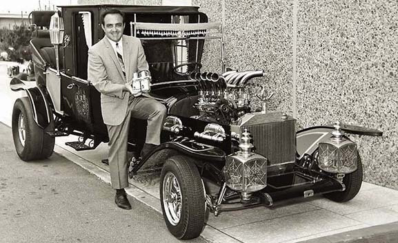 George Barris with the Munsters Koach