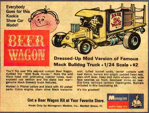 "Monogram ""Beer Wagon"" Advertisement"