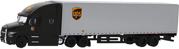 1:64th Scale UPS Mack Anthem Feeder Truck by Greenlight Collectibles