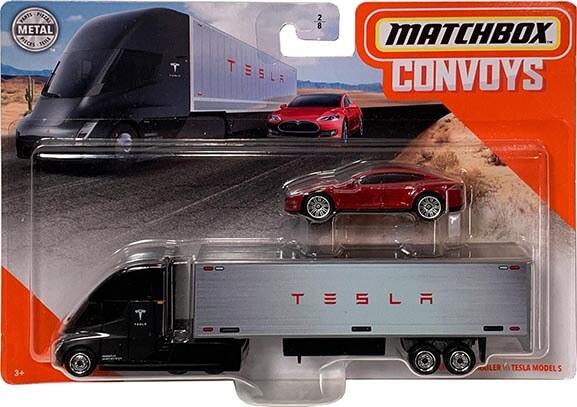 Matchbox Convoys Series Tesla Semi-Truck & Tesla Model S Sedan