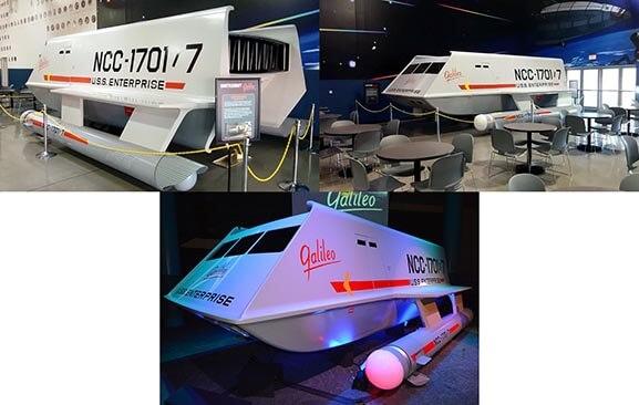 Shuttle Craft Galileo in Space Center Houston's Zero-G Diner