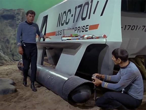 Full-size Star Trek U.S.S. Enterprise Shuttle Craft Galileo from the Original Star Trek Series