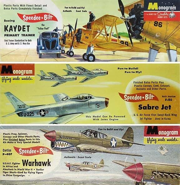 Monogram Speedee Bilt Aircraft Kits