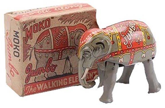 Lesney's Jumbo the Walking Elephant, Distributed by Moko