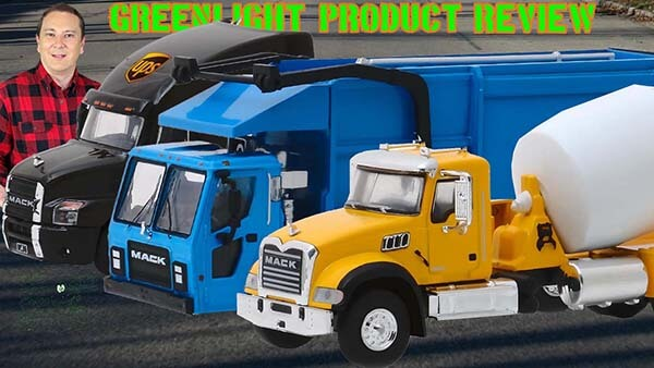 Mack Granite Anthem UPS & LR Product Review 1:64th Scale Greenlight Collectibles S-D Trucks Series 7