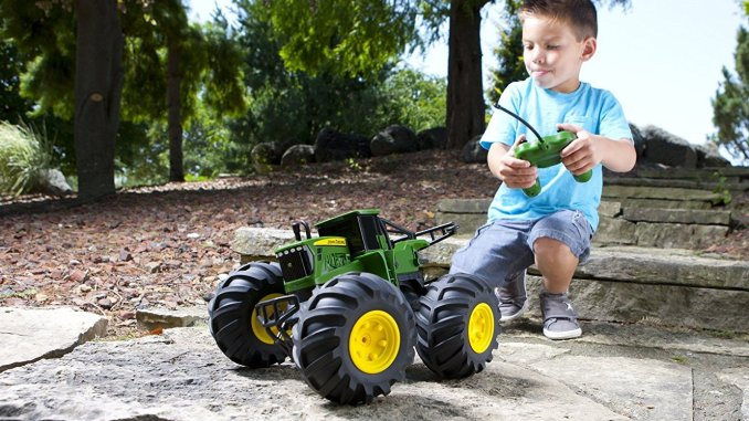 monster tread john deere toy tractor