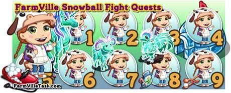 FarmVille Snow Ball Fight Quests