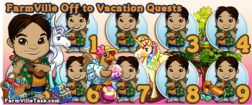 FarmVille Off to Vacation Quests