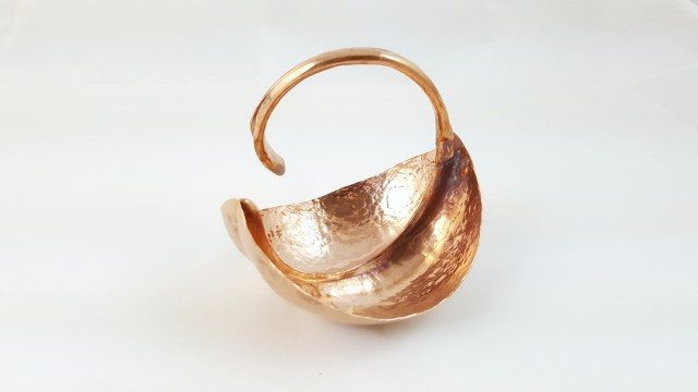 Fold-formed copper bowl