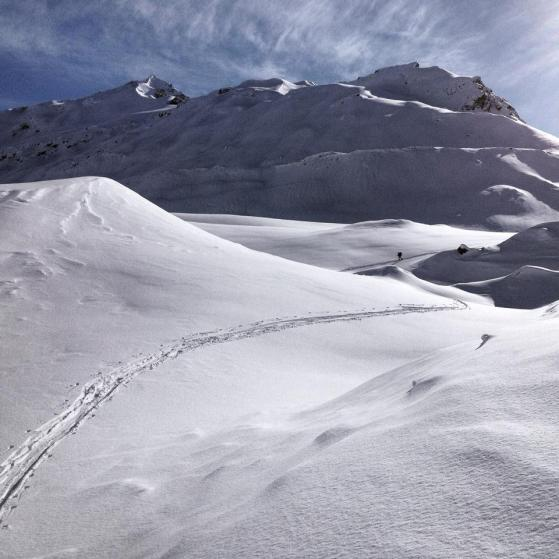 Ski tracks say where you've been, and can be extremely satisfying to look at.