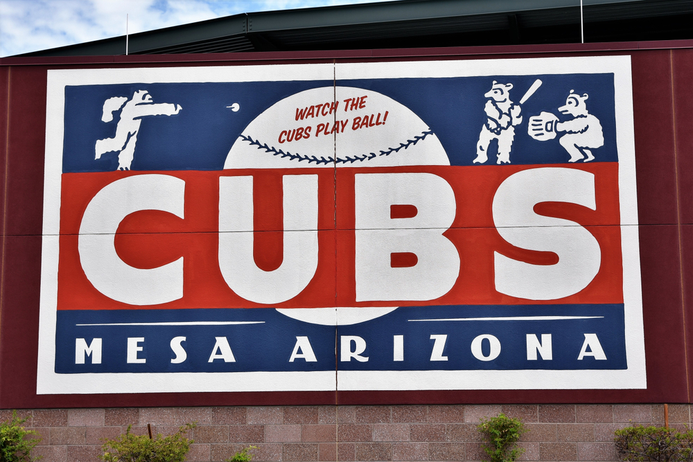 8/25/18 Mesa Arizona Sloan Park the spring training stadium for the Chicago Cubs