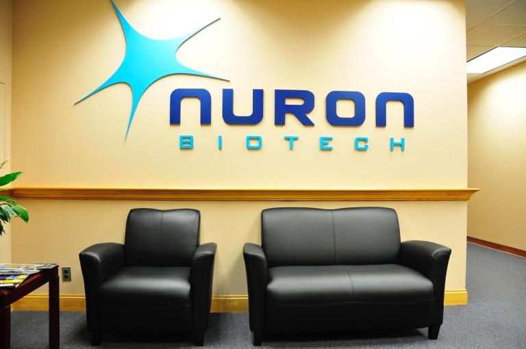 Nuron Biotech Interior Branded Dimensional Letters