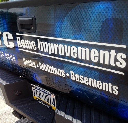 DTC Home Improvements Tail Gate Wrap Vehicle Graphics