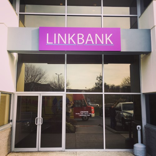 Link Bank Digitally Printed Exterior Sign