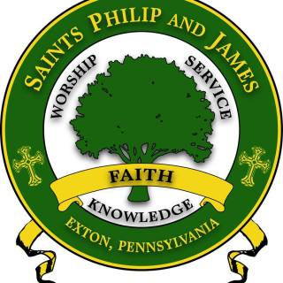 Saints Philip and James custom logo Brand Creation
