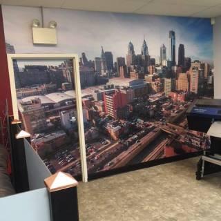 Interior Digitally Printed Philadelphia Wall Mural