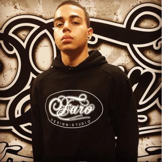 Faro Designs custom branded screen printed hoodie with logo