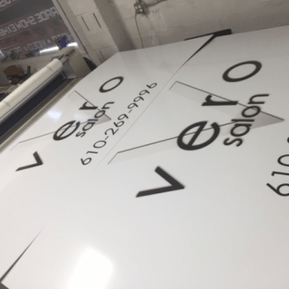 Vero Salon Downingtown Outdoor Digitally Printed Sign